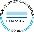 Quality System Certification DNV-GL ISO 9001